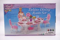 Rose Palace Gloria Deluxe Dining Room Set, 11.5 Doll Furniture/2612