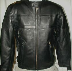 Mens New Vented Top Grain Naked Leather Motorcycle Jacket S M 2x 3x 5x Closeout