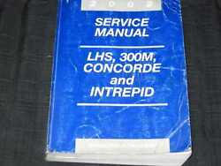 2002 Chrysler LHS 300M Concorde Intrepid Car Shop Service Repair Manual