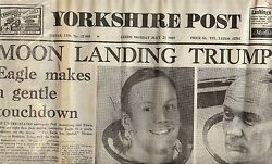 NEIL ARMSTRONG AUTOGRAPH IN YORKSHIRE POST WITH LETTER  OF PROVENANCE EXCELLENT
