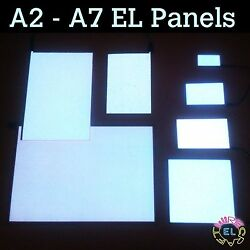 White EL Panel in Many Sizes A6 A5 A4 A3 A2 and A1 - Glow Paper Neon Sheet