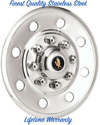 16 Trailer Truck And Van Stainless Steel One Wheel Cover Hub Cap Round Hole Andcopy