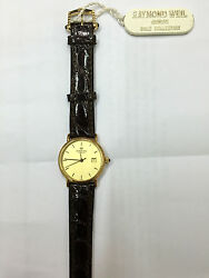 Orologio Donna Raimond Weil Geneve Oro 18 Kt Swiss Pelle Watch Leather Gold New