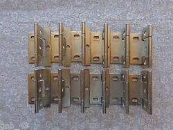 20 10 Pair Door Hinges New Brushed Nickel Non-mortise Partial Wrap 3/4