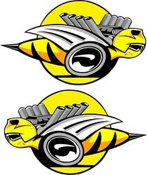 Dodge Rumble Bee#x27;s Yellow Large Decals Right amp; Left 9quot; Each