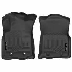 Husky Weatherbeater Front Floor Mats Blk For Toyota Tacoma 16-17 Automatic Trans