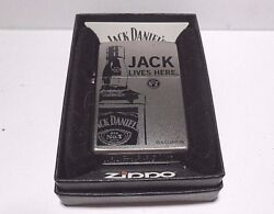 New Zippo Lighter 2015 Jack Daniels Whiskey Lives Here With Box And Seal 206