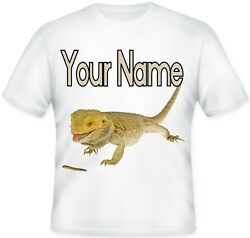 Kids Child#x27;s Personalised Bearded Dragon T Shirt Great Gift Idea For Any Fan