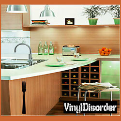 Fork Kitchen Labels Vinyl Wall Decal Sticker Mural Quotes Words -wa037