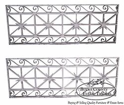 Antique Pair Of Hand Wrought Iron Regency Style Wall Grates