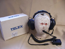 Telex Hs-905e Aviation Helicopter Headset With Boom Mic And Mm-900 Ptt Adapter Box