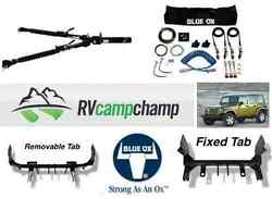 Blue Ox Complete Rv Tow Package Jeep Cherokee Trailhawk 14-16 With Alpha Tow Bar