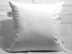 4 X Continental/european Size Square Feather Filled Pillows 65cm X 65cm