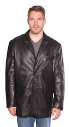 Menand039s Blazer Butter Soft New-zealand Lamb Real Leather Classic Style Very Soft