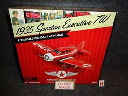 New Wings Of Texaco Die-cast 1935 Spartan Executive 7w Airplane Red 21 Cp7079