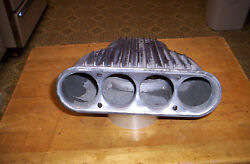 VINTAGE CAL CUSTOM ALUMINUM CARBURETOR SCOOP AIR CLEANER GASSER HOT ROD RAT ROD