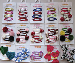 Gymboree Your Choice of Snap Clip Barrettes Greek Kitty Heart Flag Candy NEW $4.99