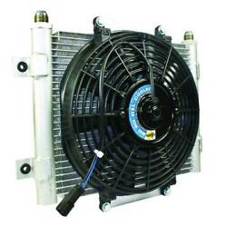 Bd Power Xtrude Core Heavy Duty Trans Cooler W/fan And -10 Jic Male Connection