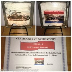 Limited Edition 100 Years Of Towing Glass Lamp Holmes 485 Numbered Tow Truck