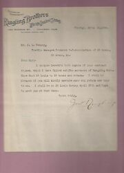 John Ringling - Ringling Bros Circus Typed Letter Signed 1908 W/coa