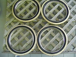 Trim Ring White Wall Hubcaps Wheel Covers Vintage Classic Antique Center Caps