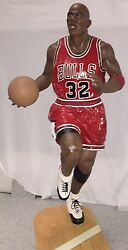 Life Size Statue Michael Jordan 6.7 Feet Tall From The Mid 90's, Rare With 32