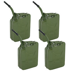 4pcs 20l 5 Gal Jerry Can Gasoline Fuel Can Metal Gas Tank Emergency Backup