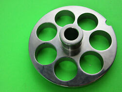 22 X 3/4 Meat Grinder Plate W/ Hub Stainless Fits Hobart Tor-rey Lem And More