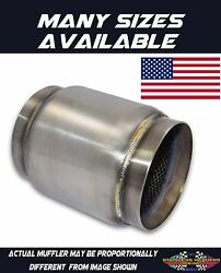 304 Stainless American Made Race Muffler 4 1/2 Od Inlet/outlet X 2 Length