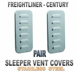 Sleeper Vent Door Covers Louvered F/ Freightliner Century Classic Pair