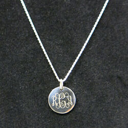 925 Sterling Silver Monogram Personalized Necklace Pick any Chain Style $16.99