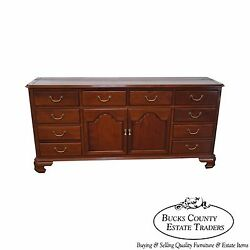 Custom Crafted Solid Mahogany Chippendale Georgian Court Style Long Dresser