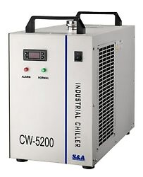 Industrial Water Chiller Cool A Single 8kw Spindle Cw-5200bh 220v 60hz