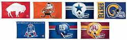 Nfl Assorted Retro Team Logo Wincraft 3' X 5' Deluxe Flag W/ Grommets New