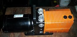 Alcatel Pascal 2021 Rotary Vacuum Pump W/ Franklin 1301303105 Motor Dual Stage
