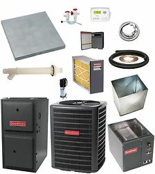 UP-FLOW_MOST COMPLETE 96% 80k btu Gas Furnace & 3-12 Ton 13 SEER AC + EXTRAS