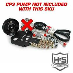 H&S Motorsports Dual Fuel Kit wo CP3 Pump Red for DodgeRam Cummins 6.7L 07-15