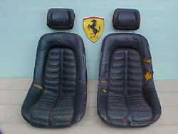 Ferrari 365 Front Seats_Head Rests_GTB4_Daytona_GTS4_0300506_0300576 PAIR_OEM