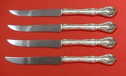 Rose Cascade By Reed And Barton Sterling Steak Knife Set Texas Sized Custom
