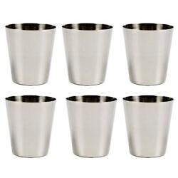 6 Pack Stainless Steel Shot Glass Glasses 1 fl oz 30ml Set of 6 New $7.52