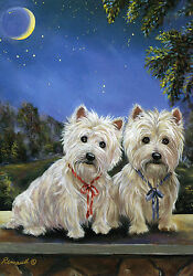 WESTIECAIRN TERRIER MOONLIGHTERS FLAG RESCUE FREE SHIP USA