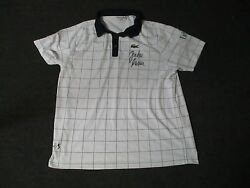 2012 Us Open Menand039s Third Round John Isner Match Used Worn Lacoste Signed Shirt