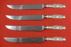 Lily Of The Valley By Whiting Sterling Silver Steak Knife Set Texas Sized Custom