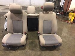 11 12 13 14 15 FORD F350 SUPER DUTY TAN FRONT SEATS STOCK#150792