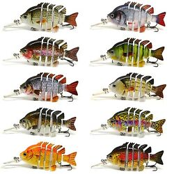 BLITZ BITE 3quot; Crazy Panfish Series Multi Jointed Bass Fishing Lure Bait Floating