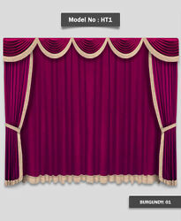 Saaria HT-1 Home Theater Event Stage Movie Hall Decor Curtains Drapes 8'W x 8'H