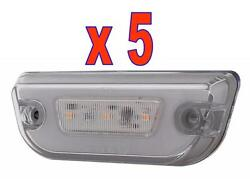 Glo Cab Lights 11 Led For Kenworth T680 And Peterbilt 579 Amber/clear 5 Each