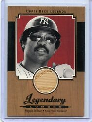 2001 Upper Deck Legends Legendary Lumber Reggie Jackson Game Used Bat