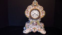 A French Desvres Mantel Clock
