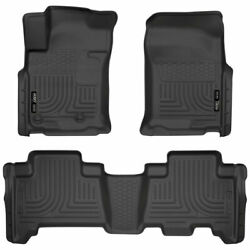 Husky Weatherbeater Front And 2nd Seat Floor Mats Black For 4runner/gx460 10-18